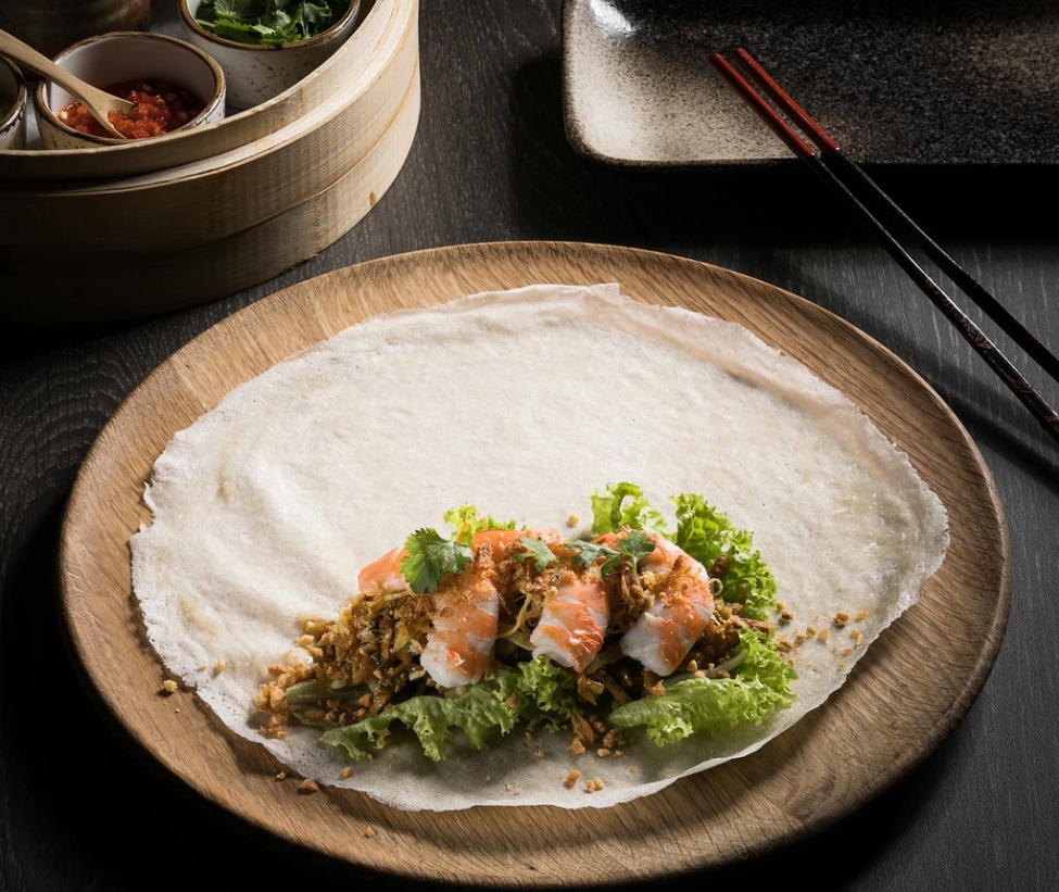 Po-Restaurant-Singapore-Popiah-With-Prawn-Filling