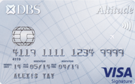 DBS Altitude Visa Signature Visa Credit Card Money Kinetics Air Miles Credit Card