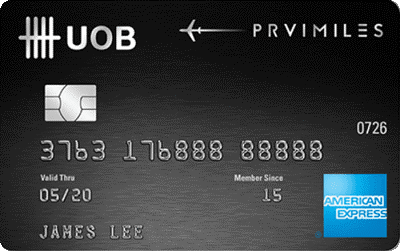 UOB PRVI Miles Credit Card Air Miles Credit Card Money Kinetics