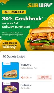 ShopBack Go Subway
